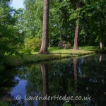 Reflections in lake at Baddesley Clinton