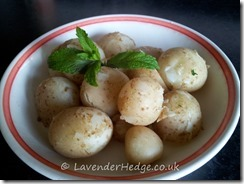New Potatoes with mint