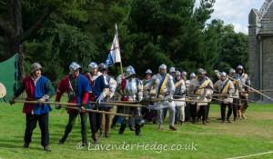 Medieval Re-enactors at Croft Castle