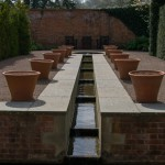 Water rill and flower pots