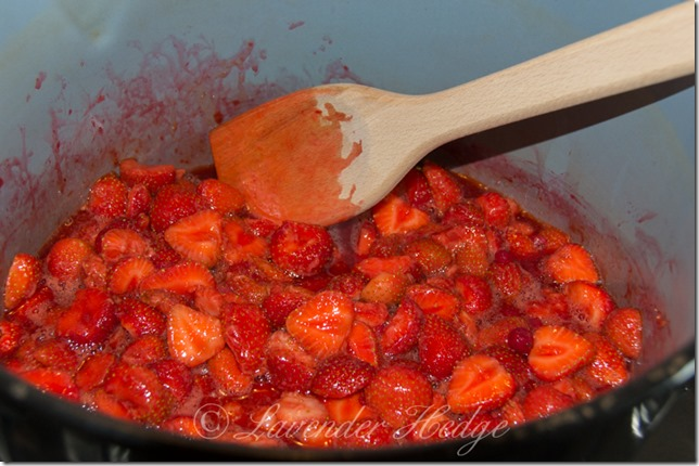 Strawberries in Preserving Pan