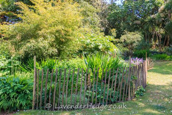 Fence round flower border