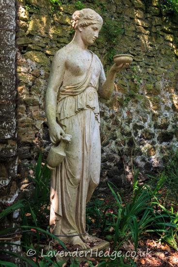Statue in the Victorian garden
